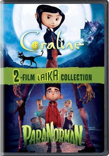 Laika 2 Film Collection Coraline Paranorman Double Feature Dvd For Rent Or Purchase Now Family Video