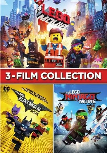 3 Film Collection The Lego Movie The Lego Ninjago Movie The Lego Batman Movie Set Dvd For Rent Or Purchase Now Family Video