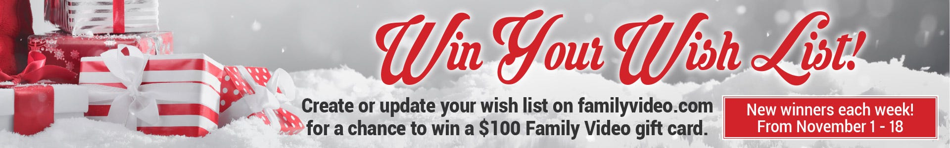 Win Your Wish List Giveaway